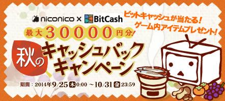 niconico×BitCashキャッシュバックキャンペーン
